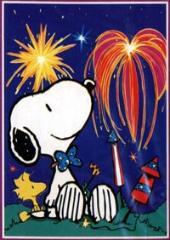 snoopy fireworks