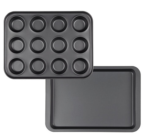 John Lewis oven tray & 12 cup bun tray (RRP £12)