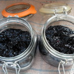blackberries in Kilner jars