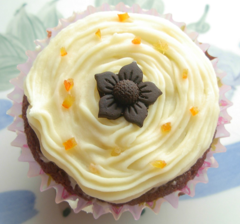 Chocolate and Orange Marmalade Cupcakes