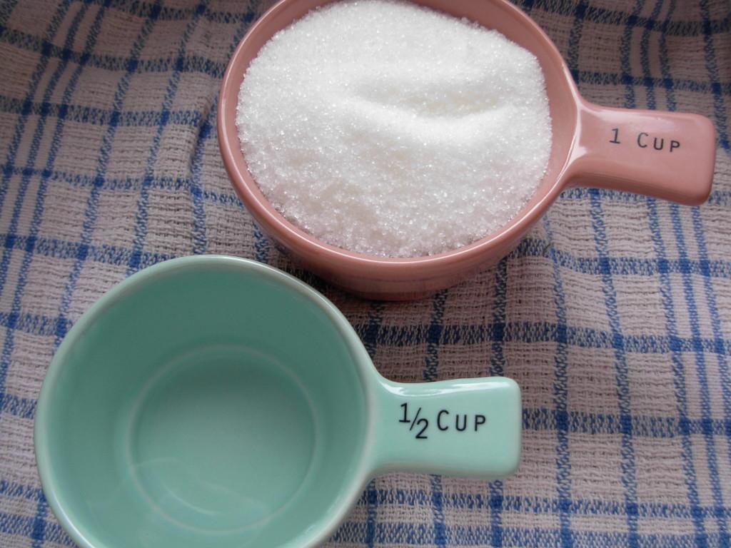 sugar and water