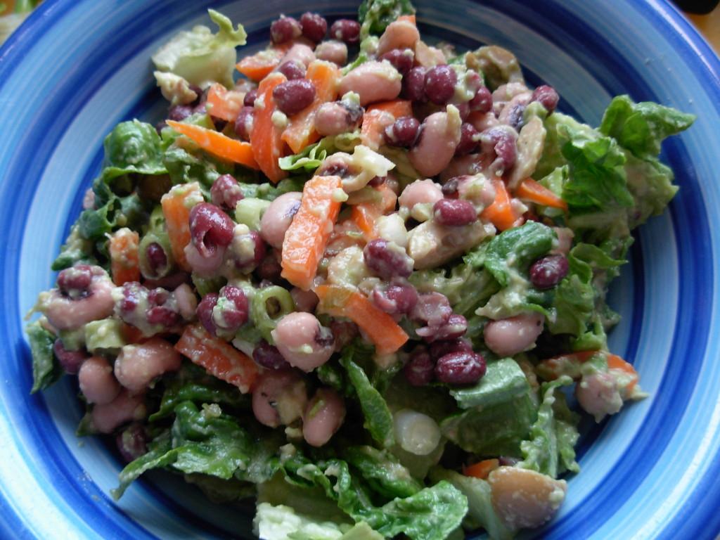 Bean and avocado salad