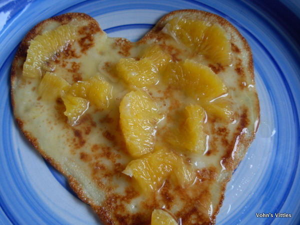 Pancake with boozy orange syrup