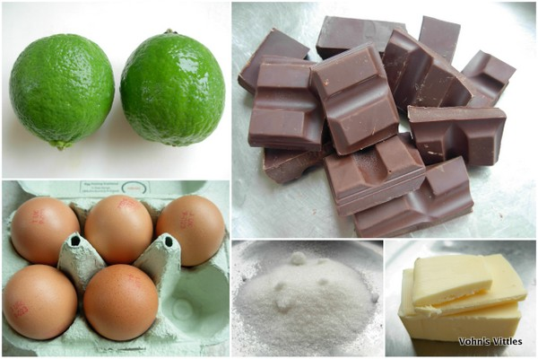 Chocolate lime curd mousse ingredients