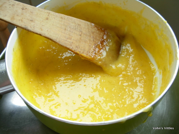Lime curd cooked