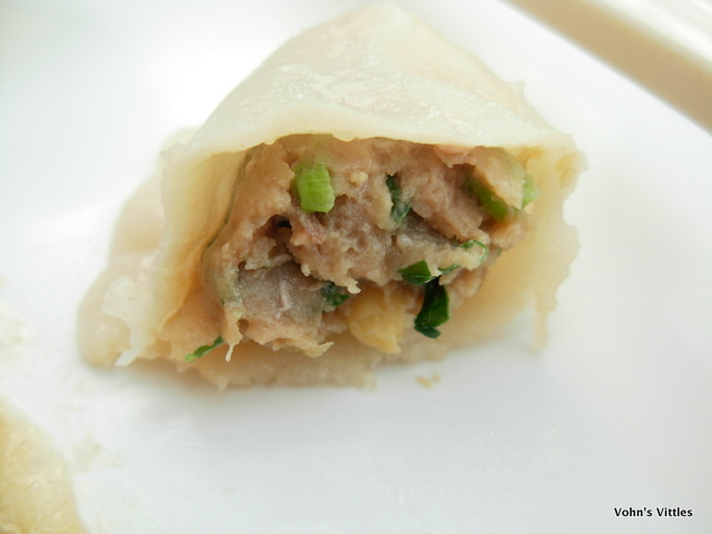 Pork and coriander filling