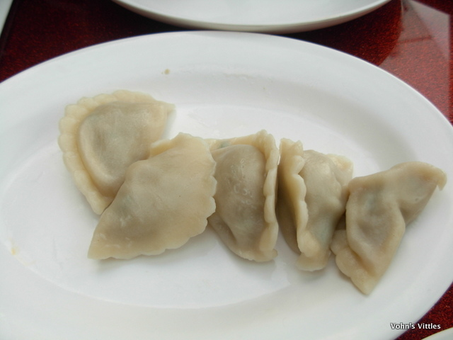 Pork and coriander jiao zi