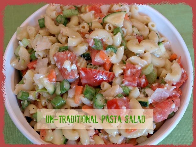 Untraditional pasta salad
