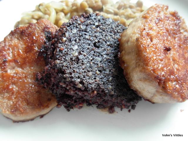 Venison boudin and black pudding