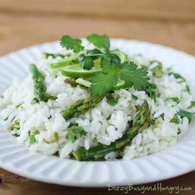 cilantro lime asparagus rice