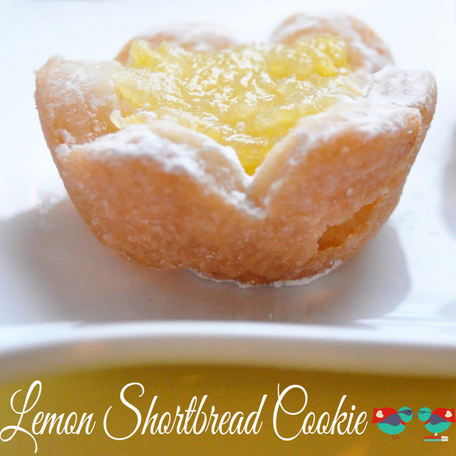 Lemon Shortbread Flowers