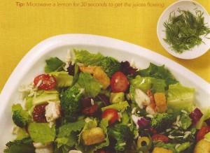 Lemon Shrimp Chopped Salad