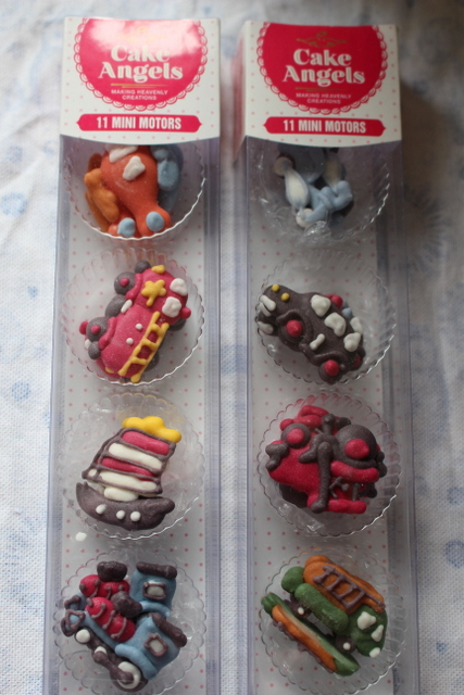 Mini motors Royal icing decorations giveaway