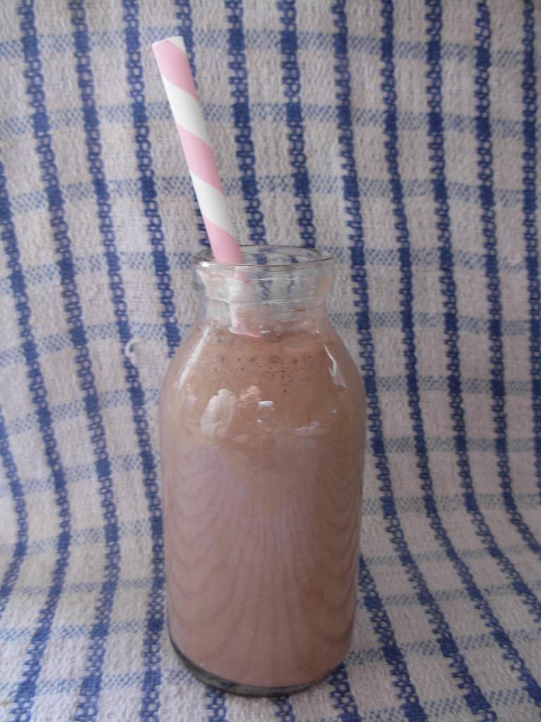 Choco-nana-hazelnut smoothie