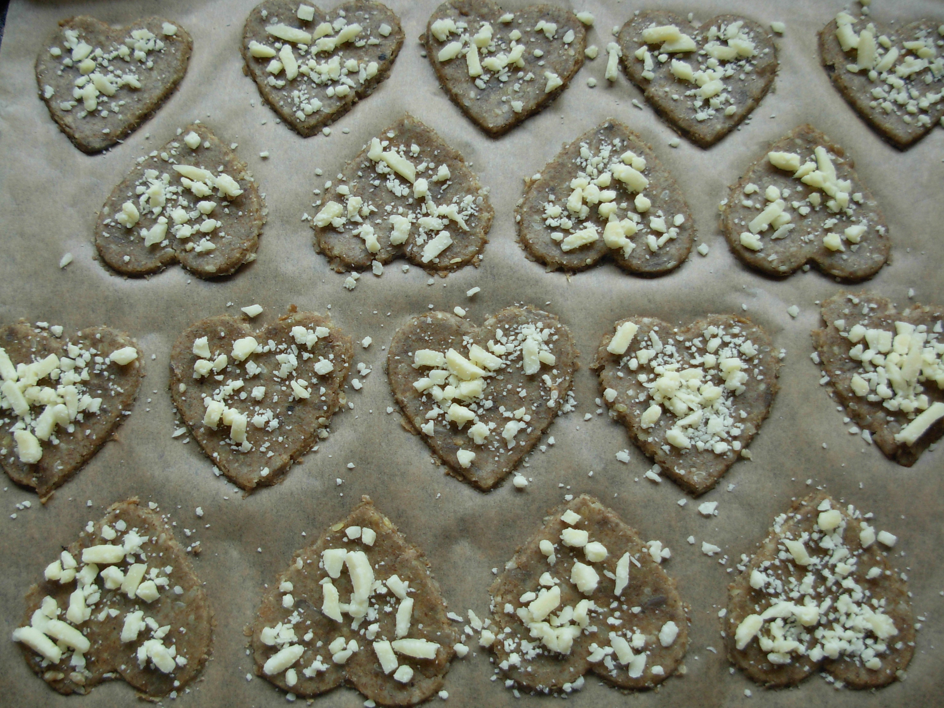 Rye pastry healthy heart with cheese