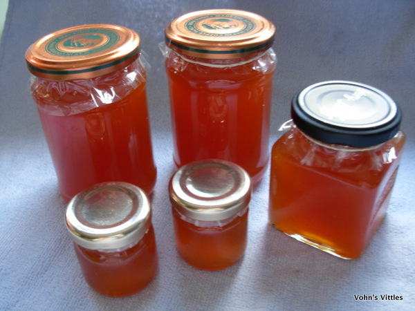 Papaya and melon jam