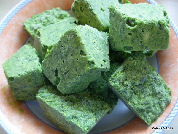 Wild garlic pesto cubes