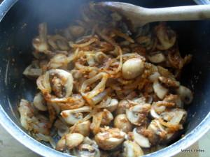 Mushroom stroganoff - add spices