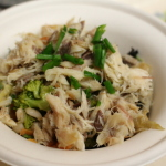 Mackerel and barley salad