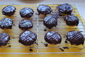 Jaffa cakes - chocolated