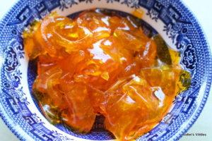 Jaffa cakes - lefover jelly